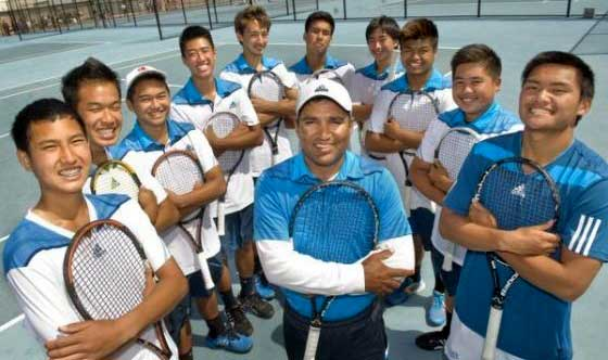 Fountain Valley High School Boys Tennis Team – 2013